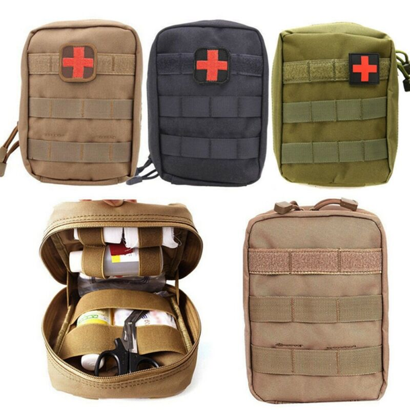 Military First Aid Kit Tactical Medical Bag Molle EMT Outdoor Emergency Survival Pouch Hiking Travel Medical Packing Organizer