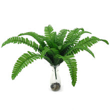Artificial Green Plants Plastic Fern Grass Leaves Home Office Decoration(China)
