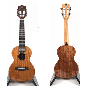Image 2 - カカマッドウクレレ固体マホガニー黒青仕上げバッグエンヤ ukeleles ハワイ 4 弦アコースティックギター楽器
