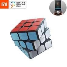 Xiaomi mijia cubo mágico inteligente bluetooth, gateway linkage 3x3x3 mi, cubo magnético, quebra cabeça de ensino de ciência educação brinquedo presente