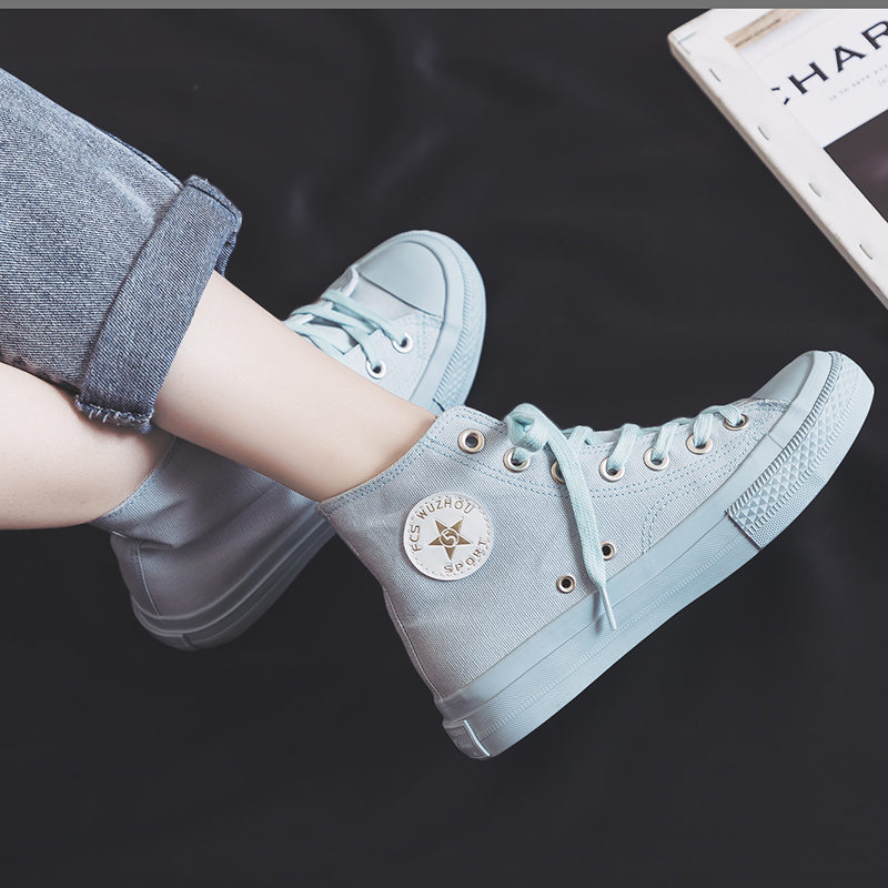 Canvas Women's Shoes 2020 Spring New Flat Casual Color Women's Vulcanize Shoes Trend Comfortable Canvas Women Sneakers Female