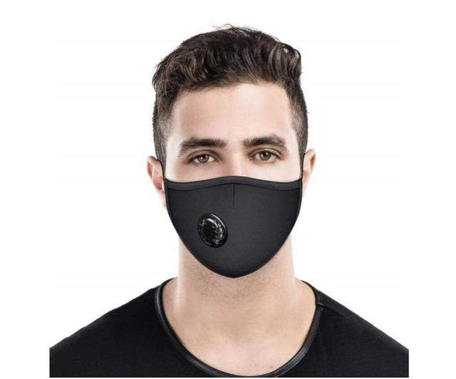 20 PCS Filter Fashion Washable Reusable Mask Anti Pollution Mouth Respirator Dust Masks Cotton Unisex Mouth Muffle Black 3