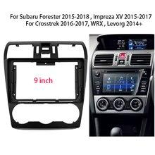 9 Inch Radio Fascia Cho Subaru Forester/Impreza XV/Crosstrek/WRX/Levorg Stereo Dash Bảng Điều Khiển điều Khiển Trung Tâm Giá Đỡ Khung Bộ