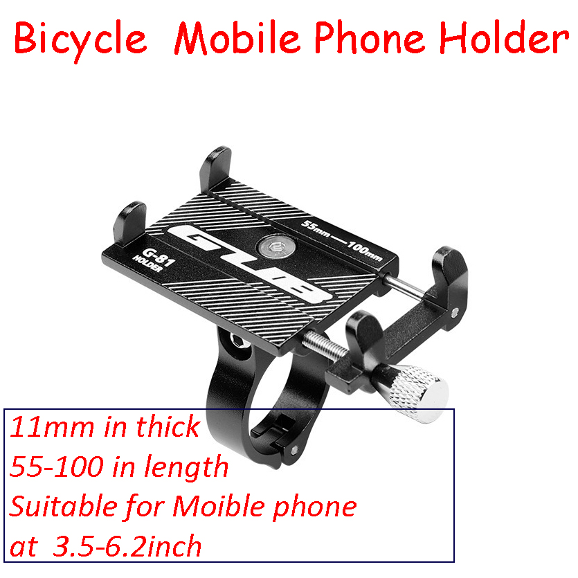 Dropshipping Bike Mobile Phone Holder G-81 Aluminium Alloy Mobile Phone Bracket Bicycle Holder Motorcycle Hand Frame