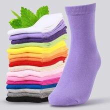 10 par kobiety moda jednolity kolor długie skarpetki bawełniane śmieszne skarpetki kobiece cukierki kolor harajuku skarpetki lady dziewczyny prezent socking