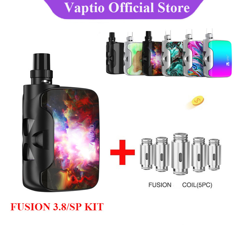 【Clearance】Gift Original Vaptio Fusion SP/3.8 Vape Electronic Cigarettes Kit With 1500mAh Built In Battery 2ml Atomizer Ecig 50w