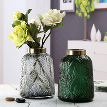 Retro home decoration glass vase minimalist living room flower  creative hydroponic