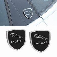 재규어 XE XF Sportbrake XJ XFR S XK X 형 S 형 F PACE 용 자동차 사이드 스티커 금속 배지 엠블럼 장식