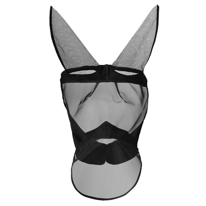 Horse Flying Mask Anti-mosquito Horse Mask Breathable Comfort Equestrian Supplies Horse Mask Zipper Removable Mesh N