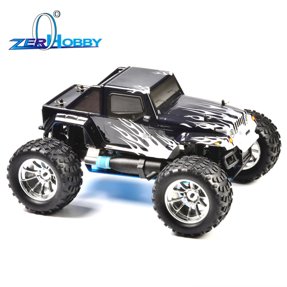 HSP RC Car 1/10 Scale Nitro Power 4wd Off Road Monster Truck 94188 Pivot Ball Suspension Two Gears High Speed Hobby
