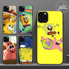 Get more info on the Funda for Case iPhone 11 SpongeBob SquarePants cover for Case iPhone XS Max XR Phone Case for iPhone 6 7 8 Plus SE 11 Pro Max X