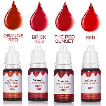 DIY czerwona ciecz zestaw pigmentowy do błyszczyka płynny pigment kropla do przezroczystego błyszczyka żel bazowy błyszczyk do ust bezzapachowa baza nawilżająca