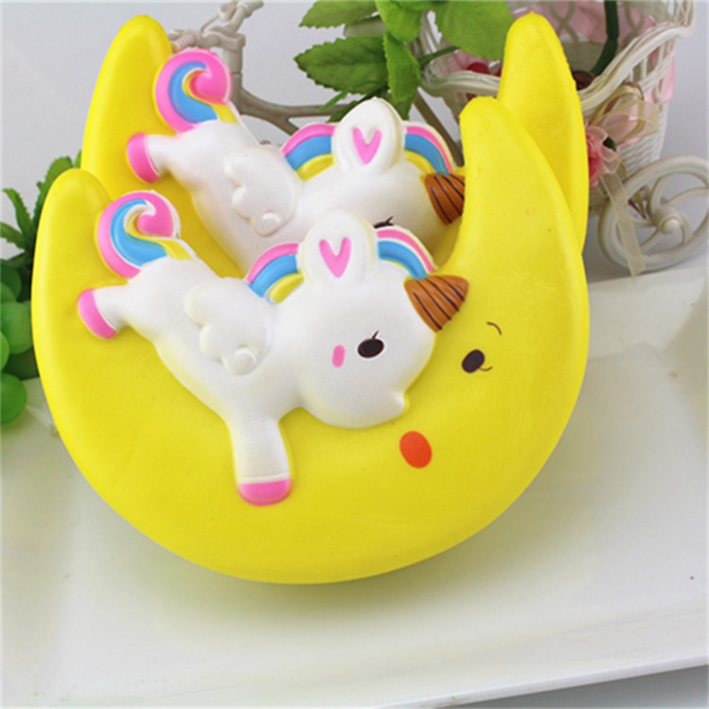 Cartoon Enormous Moon Unicorn Scented Squishy Charm Slow Rising Simulation Kid Toy