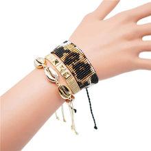 Go2boho Delica MIYUKI Bracelet Leopard Pulseras Mujer Moda 2019 Summer Gold Shell For Women Boho Chic Jewelry Handmade