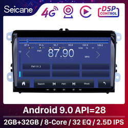 Автомобильный мультимедийный плеер Seicane 2GBRAM + 32GBROM для VW/Volkswagen/Golf/Polo/Tiguan/Passat/b7/b6/SEAT/leon/Skoda/Octavia, радио GPS