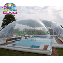 PVC clear inflatable swimming pool tent bubble tents outdoor inflatable pool cover tent