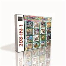 Cartucho de 208 juegos en 1 para consola DS, 2DS, 3DS, con Pokemon, negro, blanco, corazón, dorado, plateado, platino, Perla de diamante