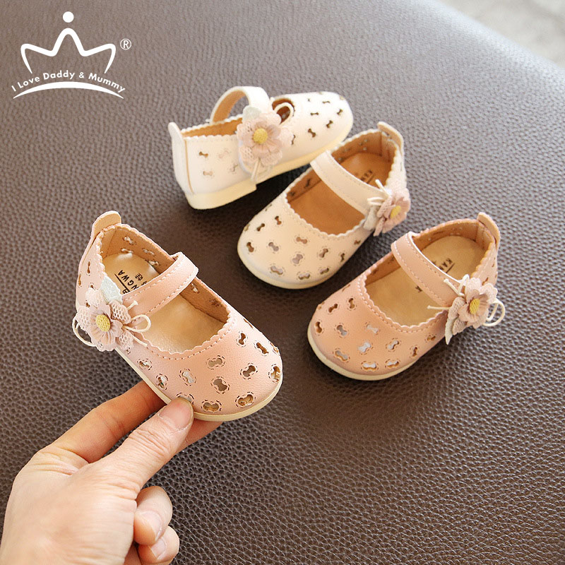 Summer Leather Sandals for Baby Boy Girl Cute Flower Rubber Sole Anti-slip Infant Toddler Baby Shoes Princess Baby Girl Sandals