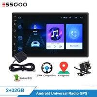 Essgoo Android Universal 2GB+32GB Car Radio Autoradio Auto Radio 2 Din Central Multimidia Video Player Automotivo Gps Navigation