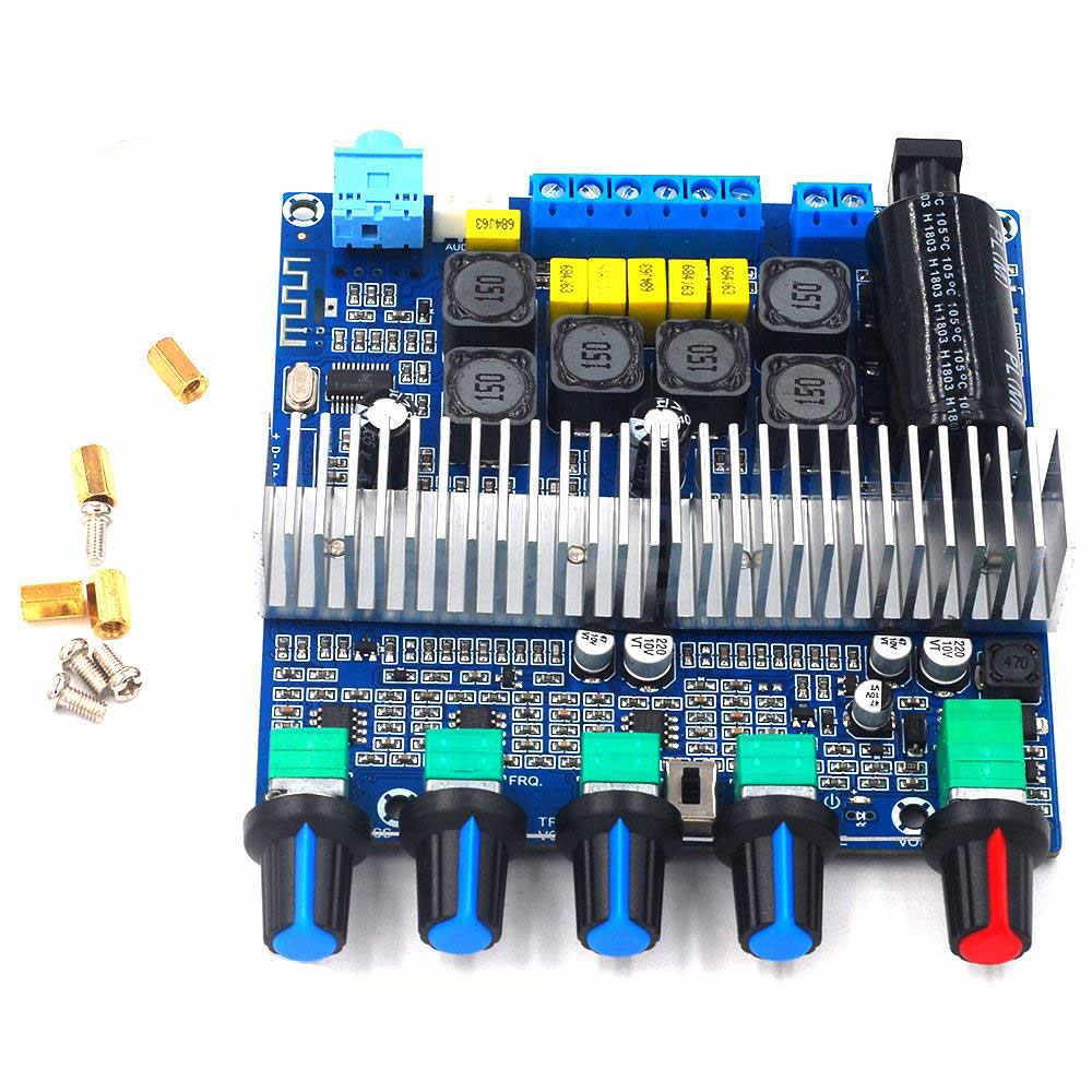 Tzt tpa3116 2.1 alto-falante bluetooth subwoofer diy amplificador bluetooth placa de áudio digital 50 w * 2 + 100 baixo aux
