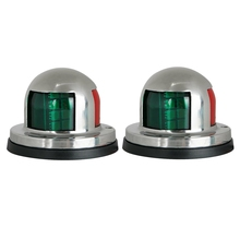 2 Pcs Marine Boat Yacht Light 12V Stainless Steel LED Bow Navigation Lights Pontoons Sailing Signal Lights