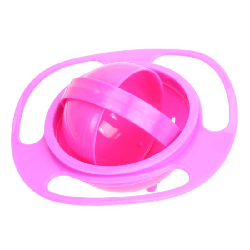Креативная обучающая посуда для кормления ребенка, детская миска, миска для защиты от разлива, детская посуда для кормления, детская посуда для еды, Гироскопическая чаша для кормления - Цвет: C bowl