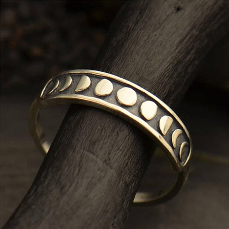 Купить женские винтажные богемные кольца серебряного цвета с луной