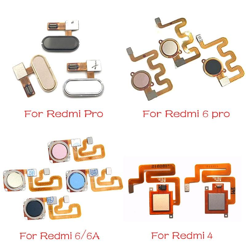 For Xiaomi Redmi 6A 6 Pro / Redmi 4 Home Finger Reader Fingerprint Reader Sensor Home Button Flex Cable