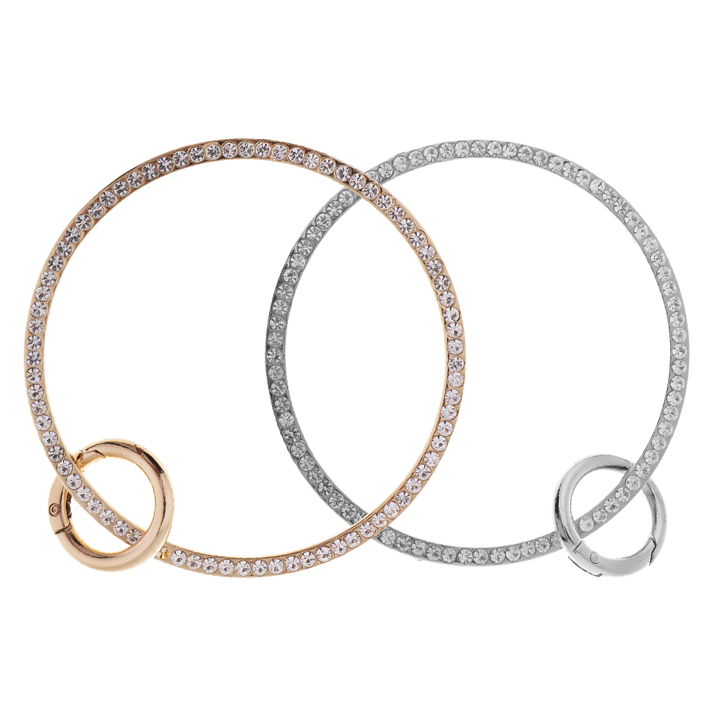 Metal Ring/Round/Circular Purse Handle With Spring Gate O-ring For Handbag Purse Hand Making