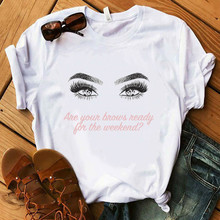 2020 Vogue graphic T shirt Women Summer Floral Earring tshirt tees harajuku Top