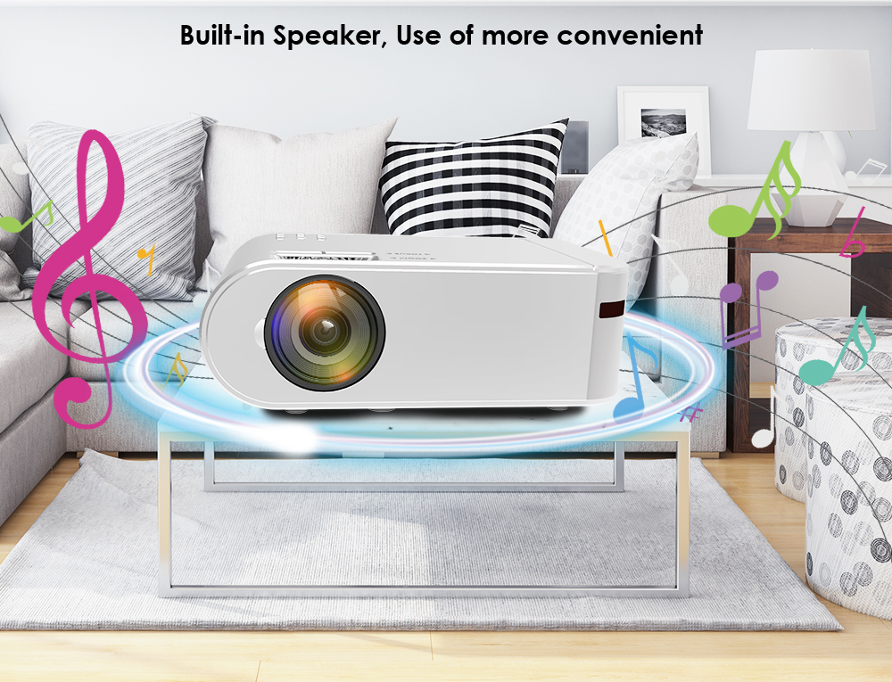 CRENOVA Mini projector for Home Protable Phone Full HD 1080p Projector Mobile M01C Video New Year Beam 2.4G WIFI 3D