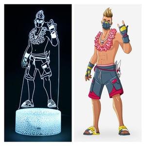 Image 2 - Forteresse nuit saison 9 été dérive Action modèle Figure Deocr lampe bataille Royale été dérive 3d iillusion veilleuses jouets
