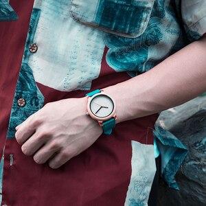 Image 2 - BOBO BIRD montres de luxe en bambou, pour hommes et femmes, bracelet à Quartz avec bracelet en cuir, coffret cadeau en bois