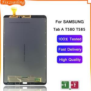 Tela lcd para samsung galaxy tab a, 10.1 t580 t585 SM-T580 SM-T585 touch screen digitador painel de montagem substituição t580 lcd