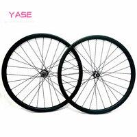 YASE 27.5er mtb 디스크 카본 휠 XC 45x30mm 대칭 튜브리스 자전거 mtb 휠 FASTace DA206 100x15 142x12 카본 휠셋