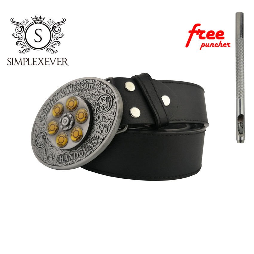 The Western Style Businessman Silver Belt Buckle Cowboy Belt Buckle Head With Belt Jeans Accessories For Men
