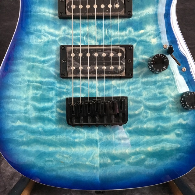 Beautiful POD-Sky7-  7-string electric guitar blue 2