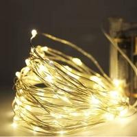 Guirnalda de luz de alambre de cobre guirnaldas de luces LED para Navidad, guirnalda de luces alimentada por batería para boda, fiesta de año nuevo, decoración interior del hogar