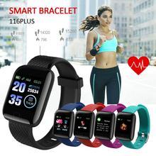 Inteligentne zegarki 116 PLUS inteligentny zegarek bransoletka kolorowy ekran monitorowanie ciśnienia krwi tętno ruch IP67 wodoodporny nowy tanie tanio centechia CN (pochodzenie) Brak Na nadgarstek Zgodna ze wszystkimi 128 MB Krokomierz Rejestrator aktywności fizycznej
