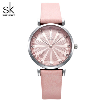 Женские часы с кожаным ремешком Shengke