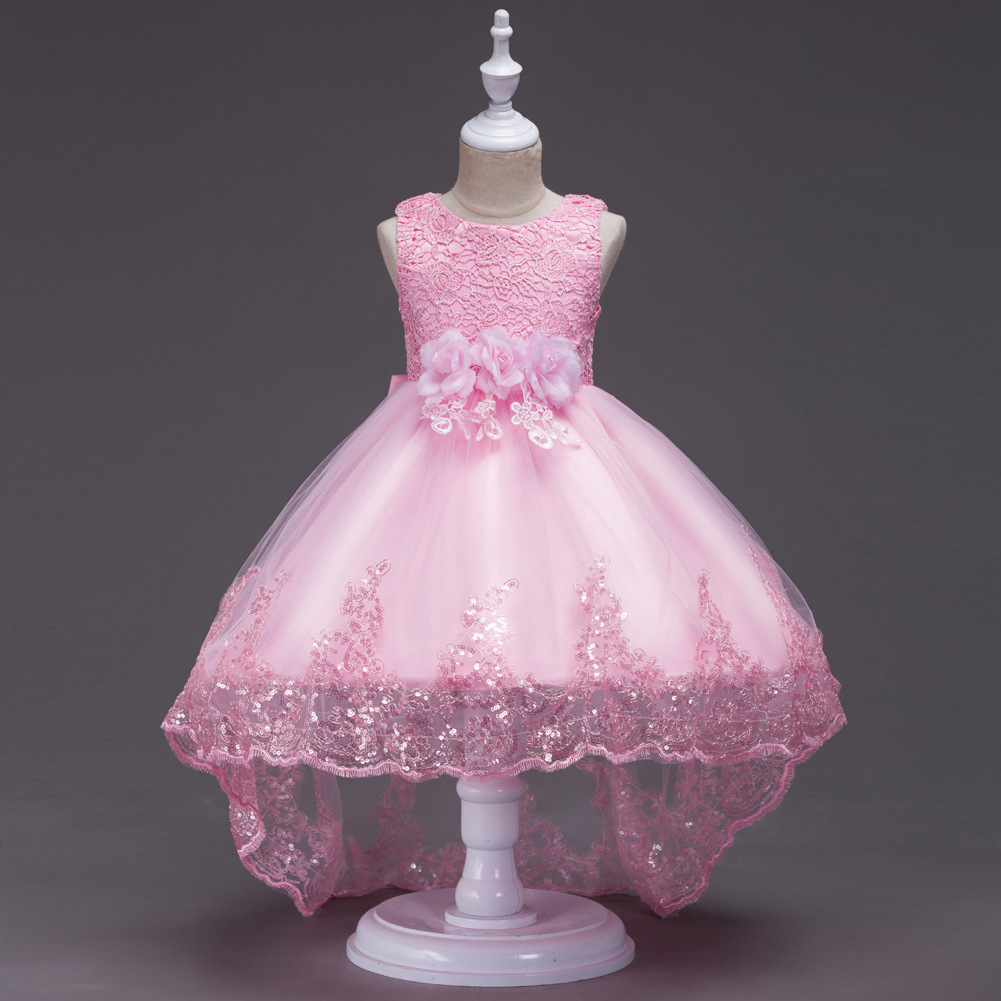 Childrenswear Hot Selling Children Princess Dress Girls Holiday Performance Clothing Big Boy Wedding Dress