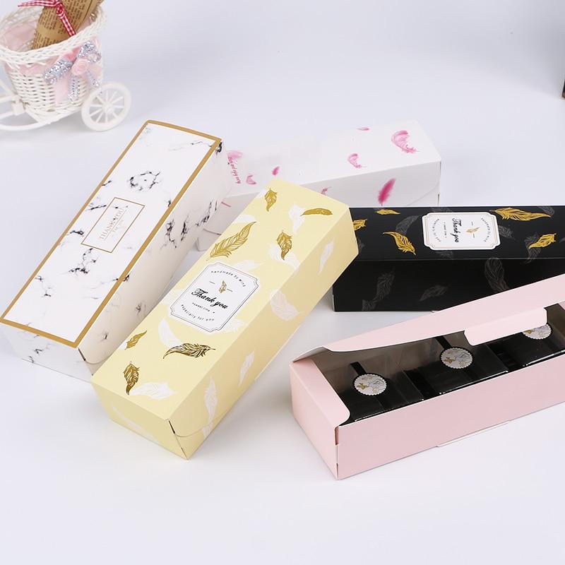 Image 2 - Lbsisi vida 10/20 pçs caixa de doces feliz natal caixa de  presente de papel nougat doces embalagem caixas de papel biscoito  biscoito saco de mão de papelMaterial para embrulhos e bolsas de  presente