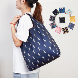 Large Washable Shopping Bag Heavy Shopping Eco-Friendly Ripstop Reusable Handbags Duty Totes Foldable Grocery Cloth Bags
