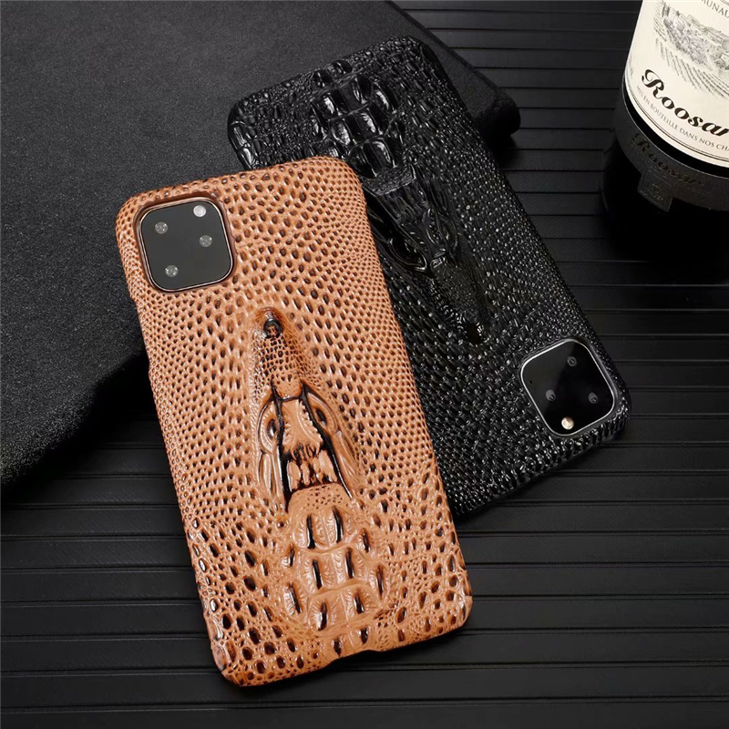 Genuine Leather Cow Hide Stereoscopic 3D Case for iPhone 11/11 Pro/11 Pro Max 20