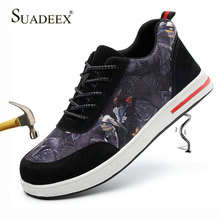 SUADEEX Men Safety Shoes Breathable Aqua Work Women Outdoor Puncture Proof Steel Toe Cap Sneaker Construction Boots