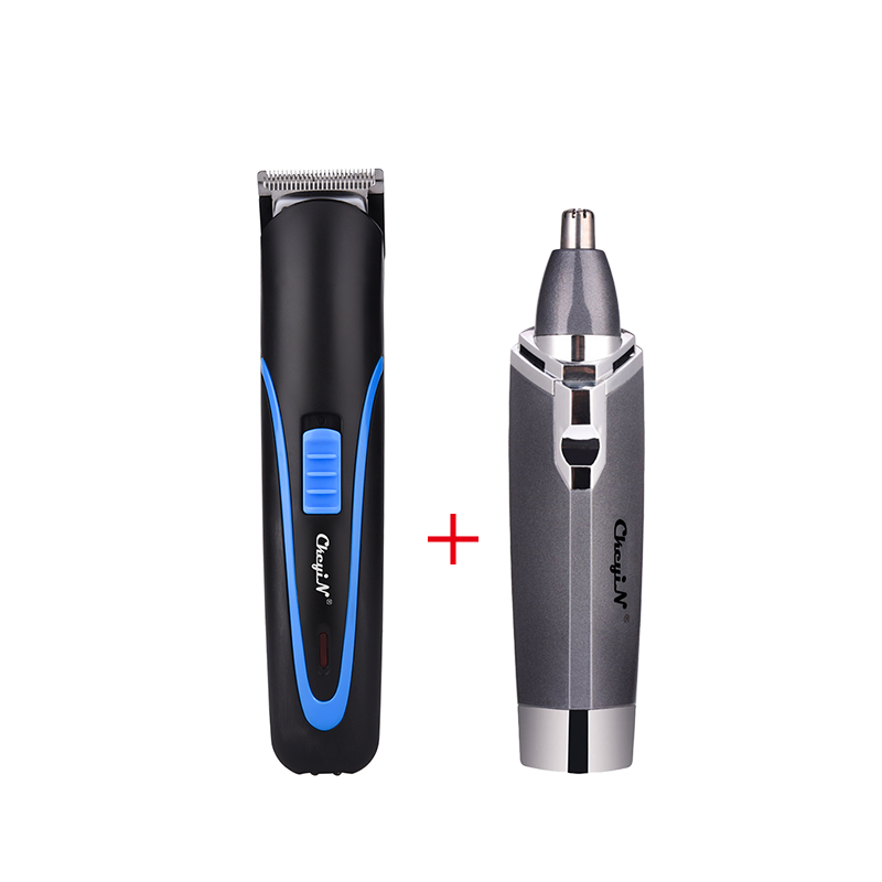 Men Rechargeable Hair Trimmer Portable Electric Cordless Hair Clipper +Electric Shaving Nose Hair Trimmer Safe Face Care Shaving