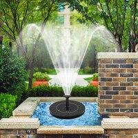 미니 태양 전원 물 분수 정원 풀 연못 30-45cm 야외 태양 전지 패널 조류 목욕 부동 물 분수 펌프 정원 장식