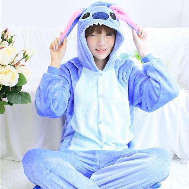 Pijama de una pieza de Animal pijama Kigurumi Harajuku pijamas ropa de casa para mujer Albornoz Lencería pijamas camisón Pug adulto