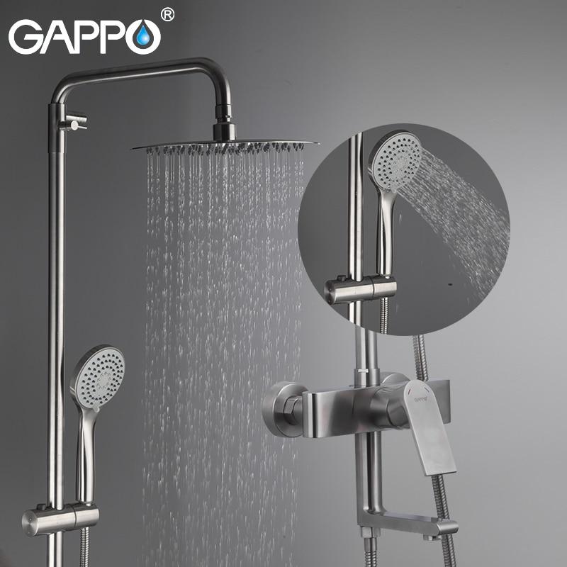 GAPPO bathroom shower faucet set bathtub faucets shower mixer tap Bath Shower tap waterfall shower head mixer torneira