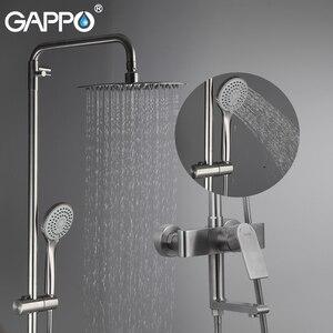Image 2 - Gappo 浴室のシャワー蛇口セットバスタブ蛇口シャワーミキサータップバスシャワータップ滝シャワーヘッドミキサー torneira